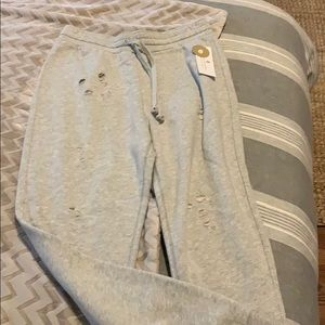 NWT spiritual gangster ripped joggers medium